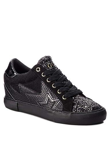 5bc767f17390 Guess Sneaker Black FLPOT4PEL12  Amazon.fr  Chaussures et Sacs