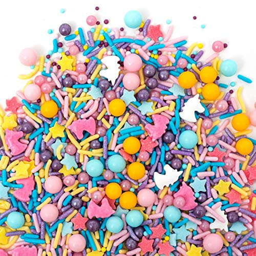 Sprinkles | HAPPY UNICORN Sprinkle Medley 8oz | Gorgeous Sprinkle Blends for Every Occassion | GLUTEN FREE. NUT FREE. DAIRY FREE.