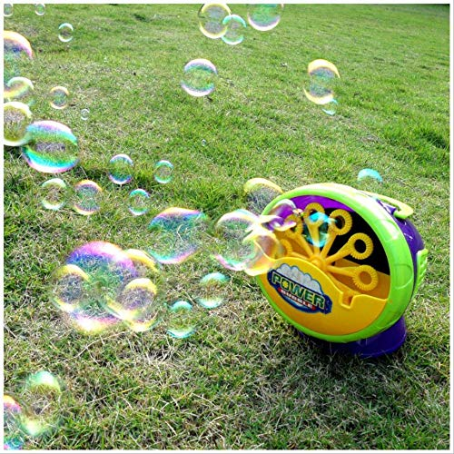 JUN GUANG Children's Bubbler Powerful Wedding Bubble Machine Bubble Blower Machine Colorful Blowing Bubble Machine for Indoor/Outdoor Use