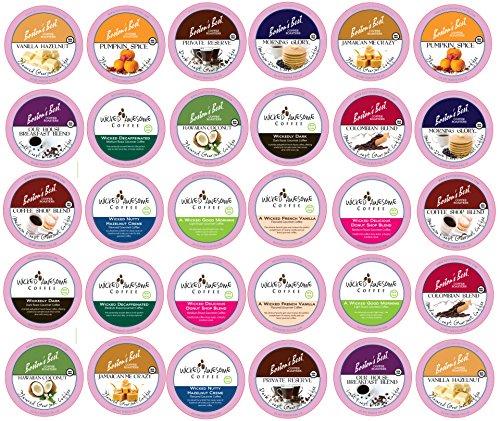 Custom Variety Pack Coffee Sampler for Keurig K-Cup Brewers, 30 Count