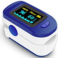 Wellue Fingertip Blood Oxygen Saturation Monitor with Batteries and Lanyard for Wellness Use FS20C