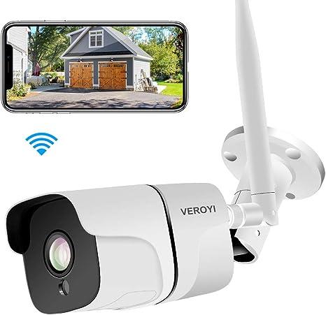 d/étection de Mouvement Vision Nocturne Veroyi Cam/éra de Surveillance ext/érieure 1080P WiFi IP Cam/éra de Surveillance /à Domicile avec Audio bidirectionnel IP66 /étanche