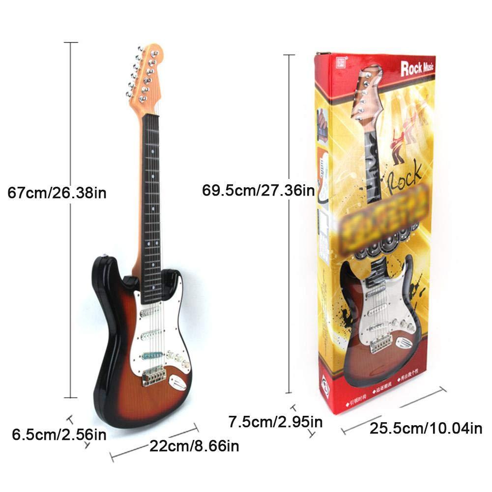 Wovemster Guitarra eléctrica para niños Juguete Simulación Música 6 - Cuerdas Principiante Día del día Instrumento musical - My Music World Rock Guitar: ...