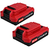 Biswaye 2 Pack 2.0AH 20V MAX Replacement Lithium Ion Battery for Porter Cable 20V Cordless Power Tools Battery PCC685L PCC680L PCC682L PCC685LP