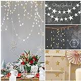 2本(2 *銀色+ 2 *金色)結婚式、誕生日、パーティーの飾り/スターデコレーション/ペーパーガーランド - 4本入