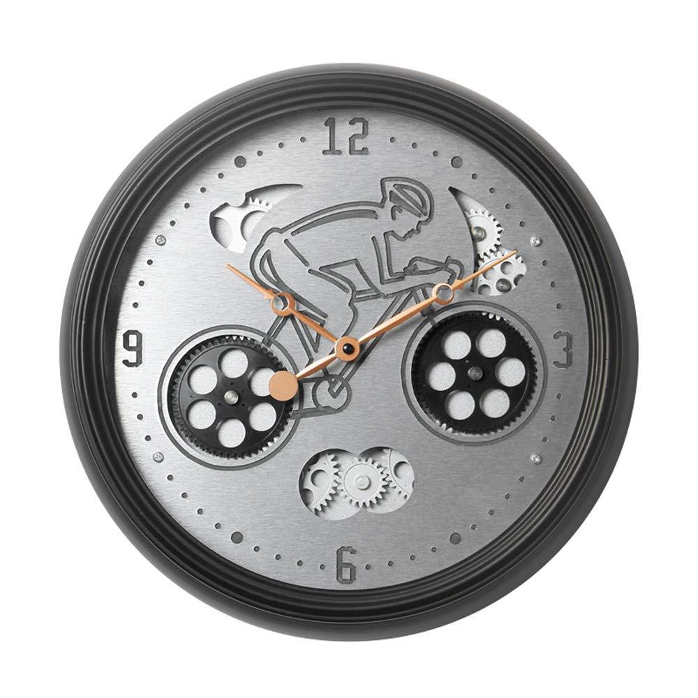 機械式歯車時計は北欧時計リビングルームクリエイティブパーソナリティ電子壁時計の歯車を回転させることができます   B07RB5LKCR