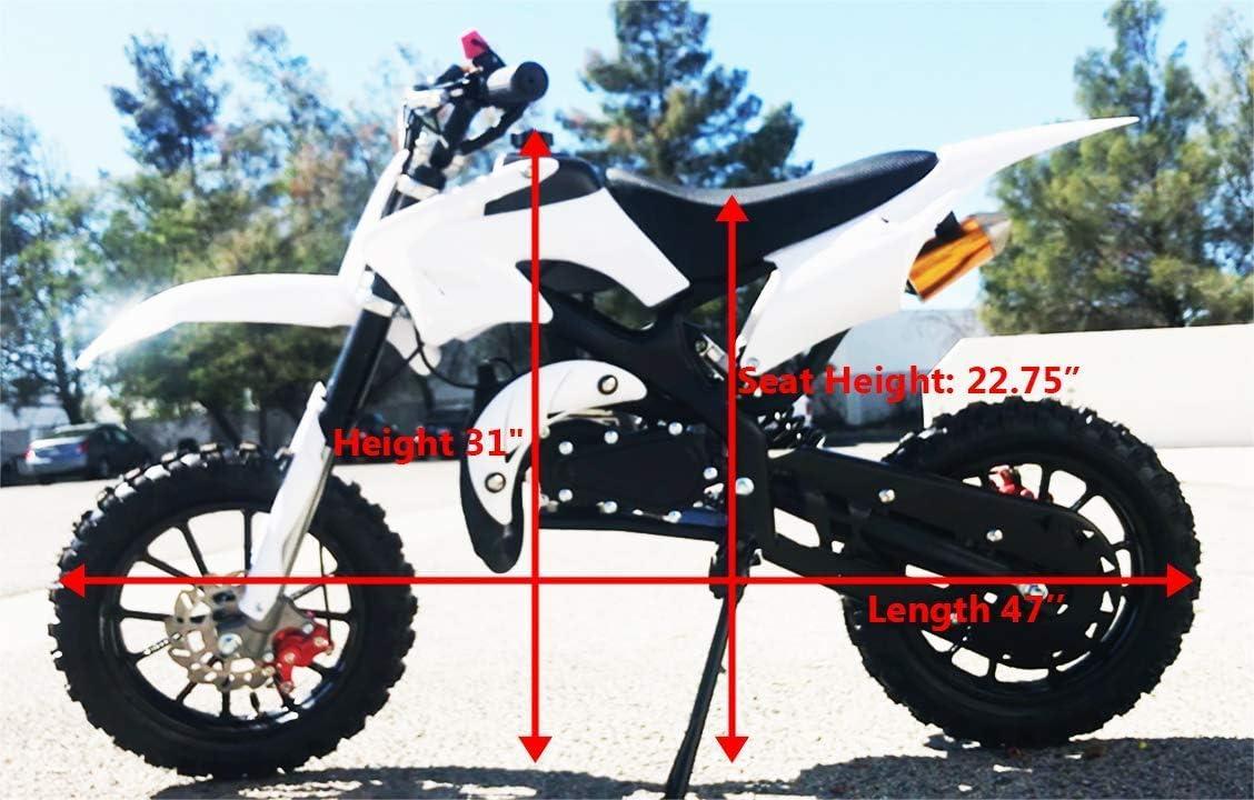 Amazon.com: Superrio 49CC - Mini moto de 2 tiempos para moto ...