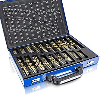 Spiralbohrer TITAN Holz DIN338 230tg HSS Bohrer 1-13mm Set Stahlbohrer