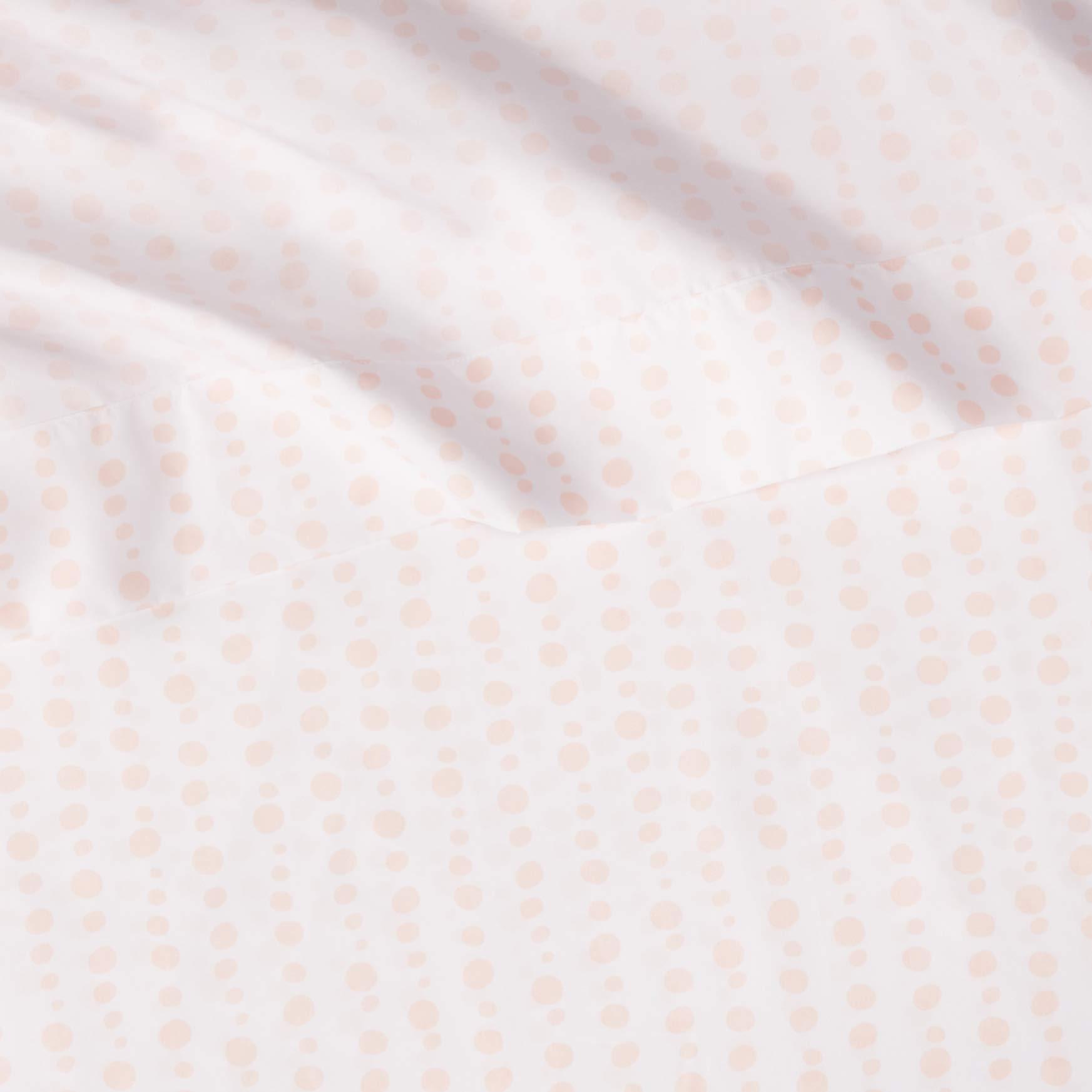 AmazonBasics Kid's Sheet Set - Soft, Easy-Wash Microfiber - Twin, Pink Dotted Stripes by AmazonBasics (Image #5)