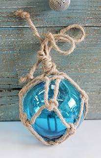 10,16 cm de cristal con diseño marino flotadores - de pesca Buoy - Coastal