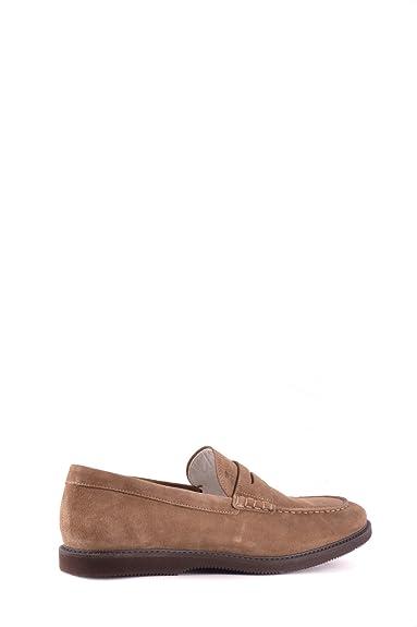 Men's MCBI148415O Brown Suede Loafers