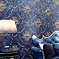 Blooming Wall Vintage French Damasks High Standard Textured Wallpaper Wall Paper for Livingroom Kitchen Bedroom,20.8 In32.8 Ft=57 Sq.ft