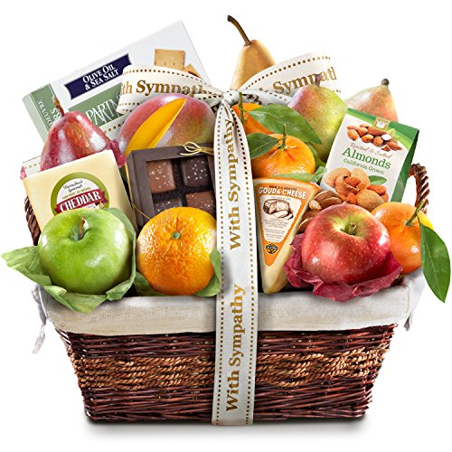 Golden State Fruit Deluxe Gift Basket, Sympathy (Fruit Gift Baskets Sympathy)