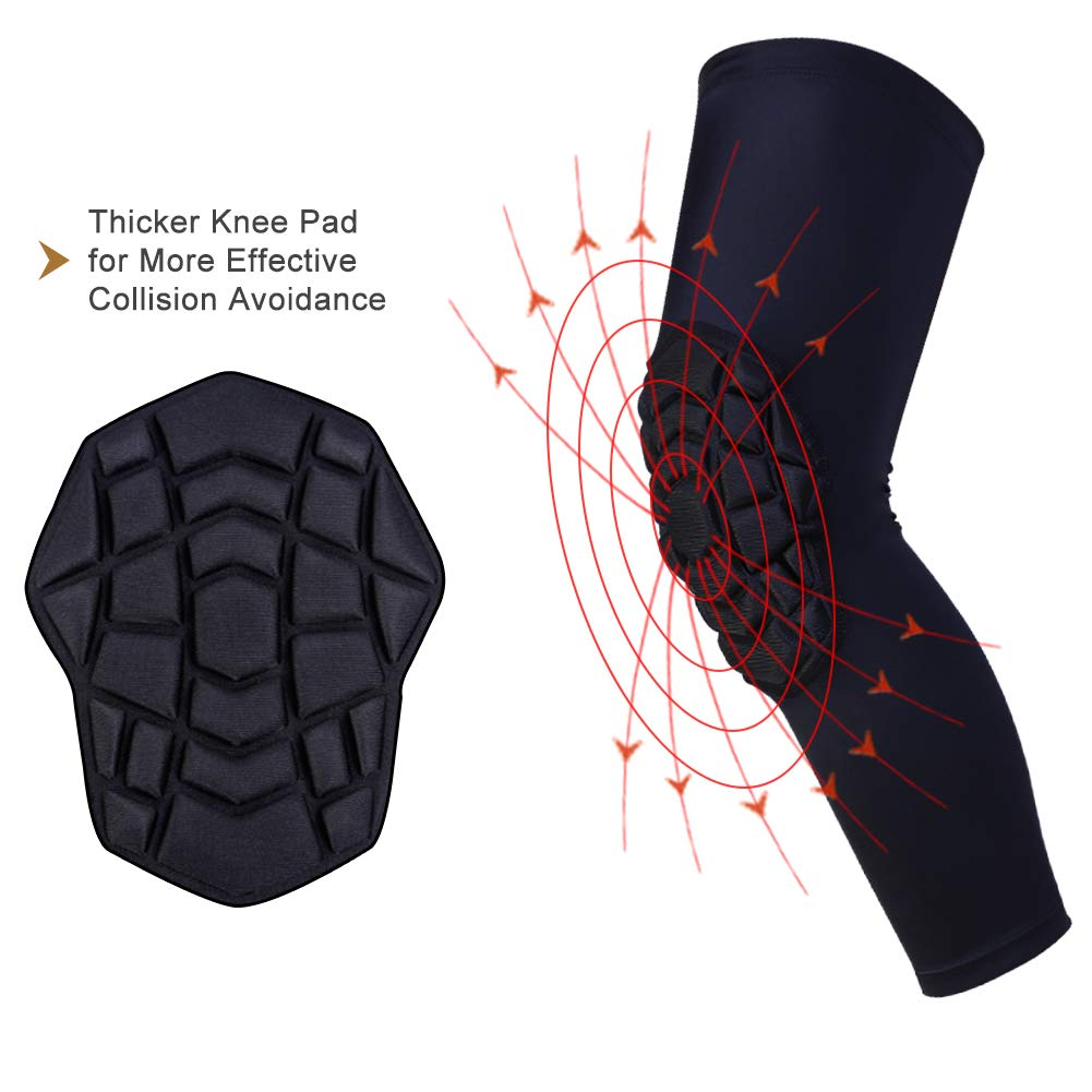 Pair of Sleeve Youth /& Adult Sizes ZODEYI Sports Knee Pads Compression Leg Sleeve Knee Sleeve for All Sports Wrestling Protector Gear