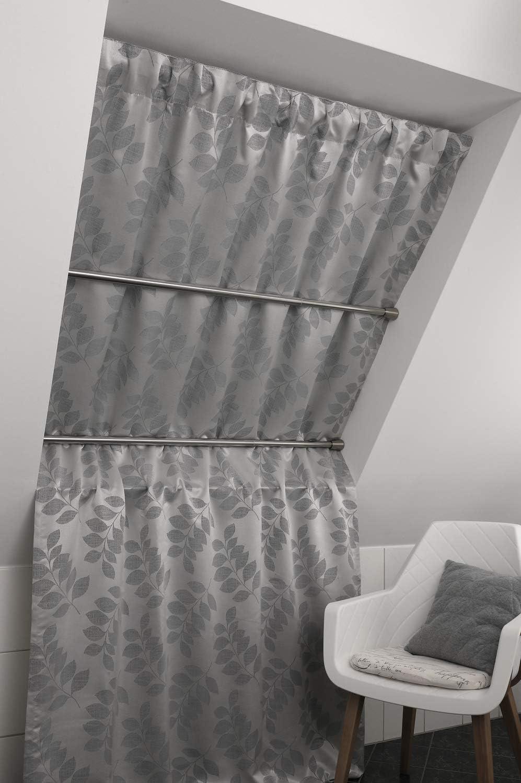 Longueur 60-100 cm /Ø 23//26 mm Extensible Acier Inoxydable Montage sans Per/çage ni Vis GARDINIA Tringle /à Fixation par Pression