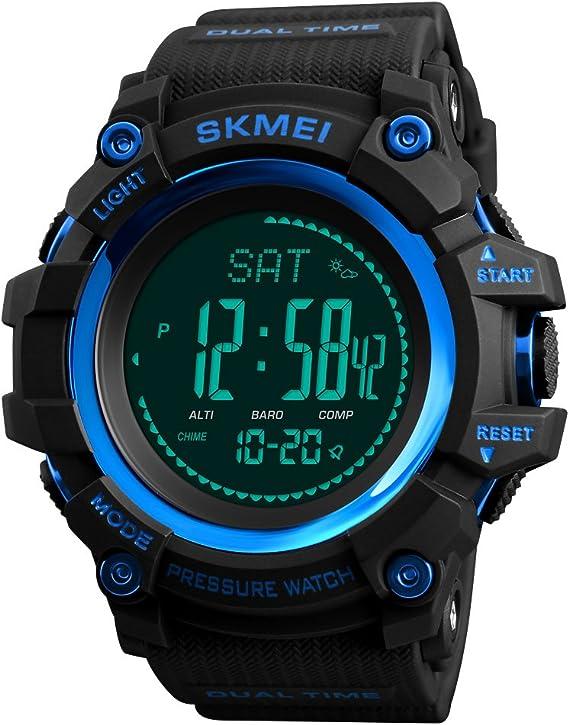 TONSHEN Hombre Reloj Outdoor Militar Digital Brújula LED ...