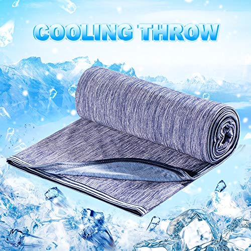 Cooling Throw Blanket Japanese Q-Max 0.4 Technology Keep Cool in Summer Night...