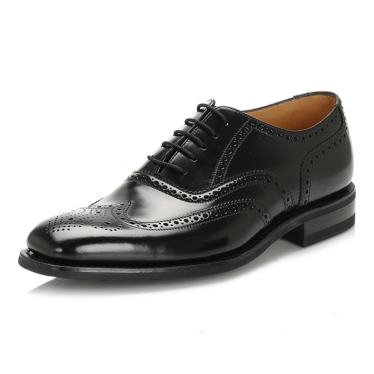 Loake Legend Herren Schwarz 262B Legend Loake Polished Leder Brogue Schuhe 06d574