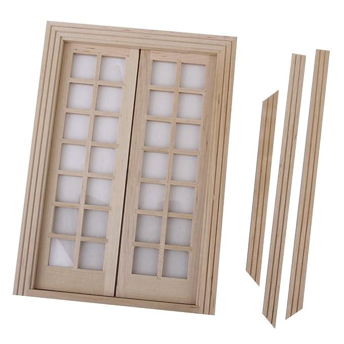 Amazon.es: Homyl Mini Puerta De Madera del Panel 28 Exterior Y Cerraduras De Puerta para 1/12 Casa De Muñecas: Juguetes y juegos