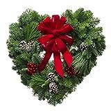 Christmas Love Heart Wreath