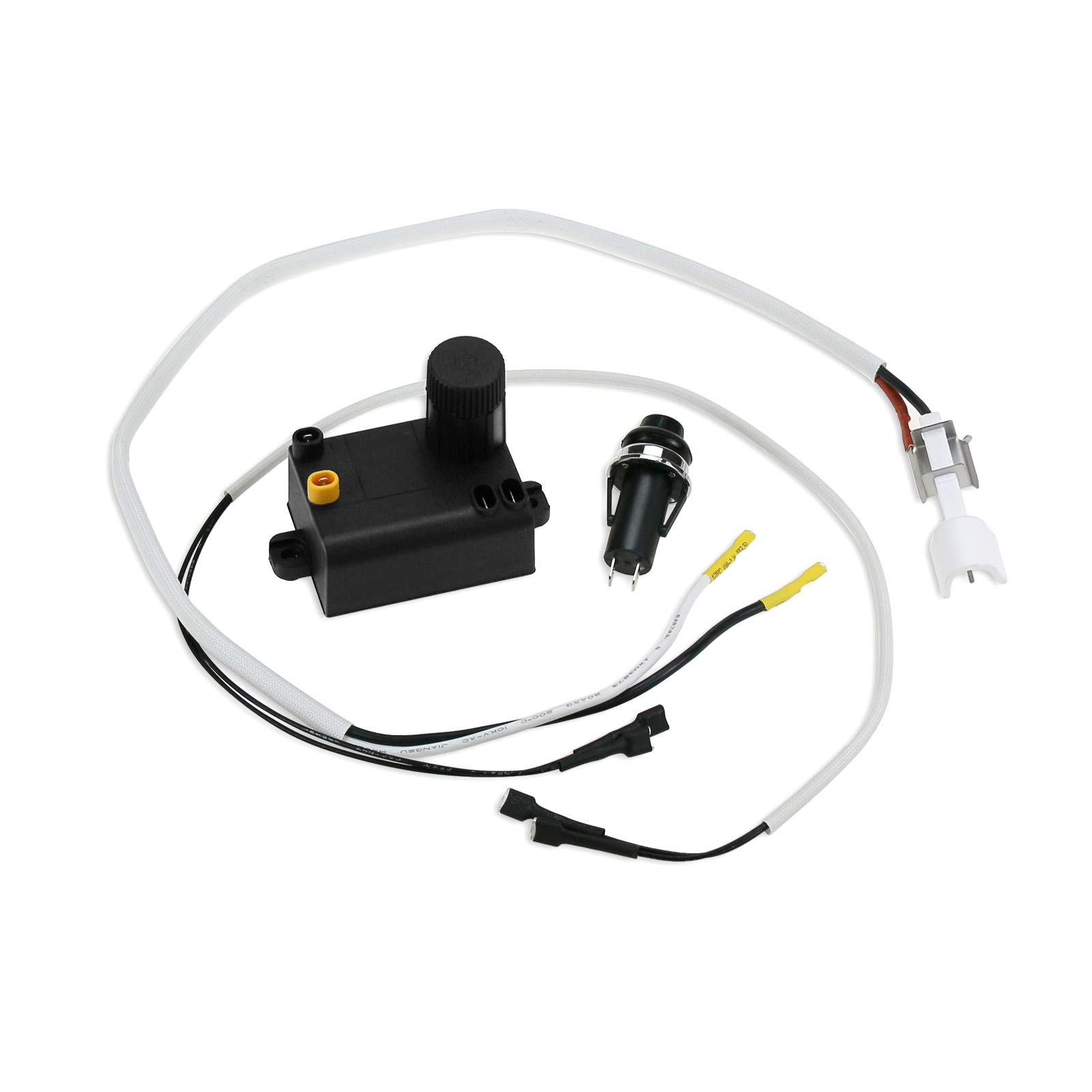 Hisencn Electronic Igniter Kit Replacement for Weber 7642, 69850, Spirit 200 Series, Spirit E-210, E-220, S-210, E-310, SP-310 Gas Grills with Up Front Controls, Electronic Igniter Wire by Hisencn