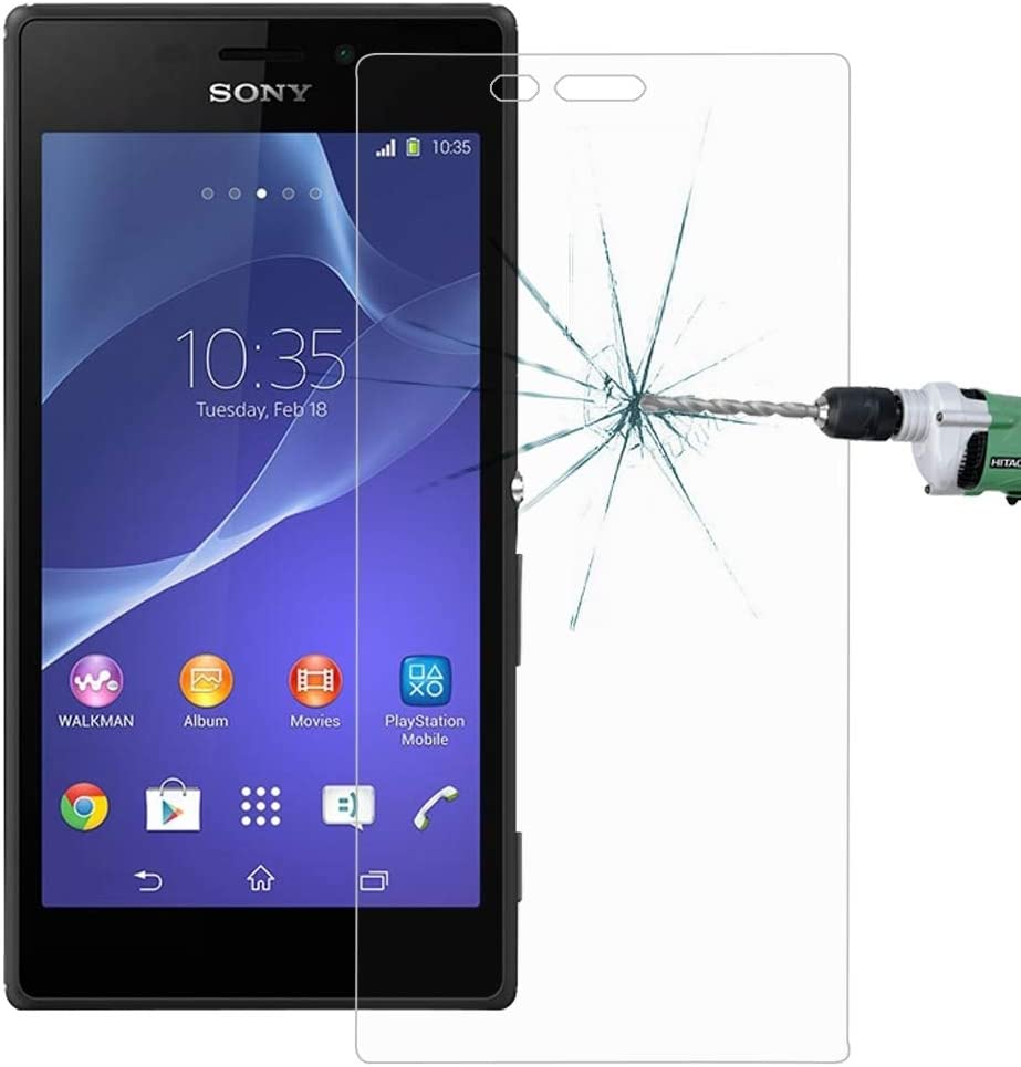 Wangl Mobile Phone Tempered Glass Film 100 PCS for Sony Xperia M2 S50H 0.26mm 9H Surface Hardness 2.5D Explosion-Proof Tempered Glass Screen Film Tempered Glass Film