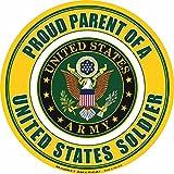 Proud Parent of a U.S. Soldier Circle Magnet