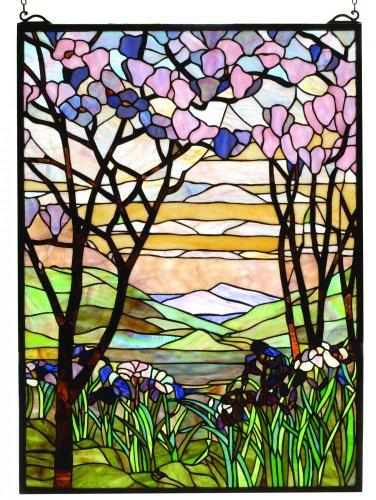 Meyda Tiffany 98589 Tiffany Magnolia & Iris Stained Glass Window, 22