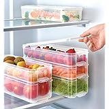 Conjunto de 3 recipientes/contenedores/organizadores/tuppers ideales para el refrigerador, material Polipropileno y con una C