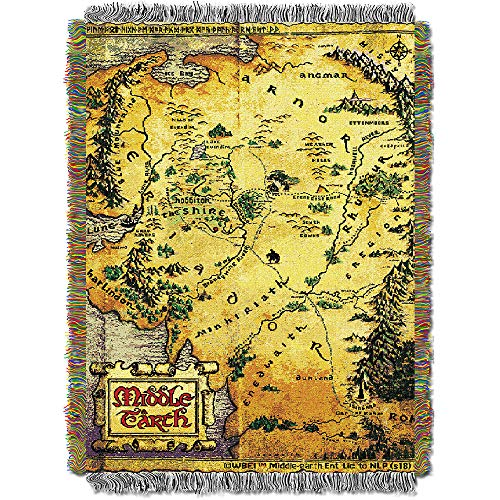 - Warner Brothers The Hobbit, Middle Earth Woven Tapestry Throw Blanket, 48