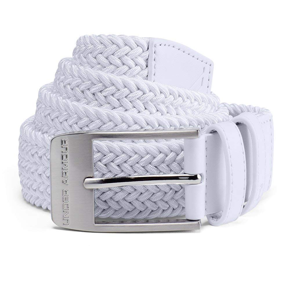 Under Armour Men's Braided Belt 2.0, White (100)/White, 34 by Under Armour