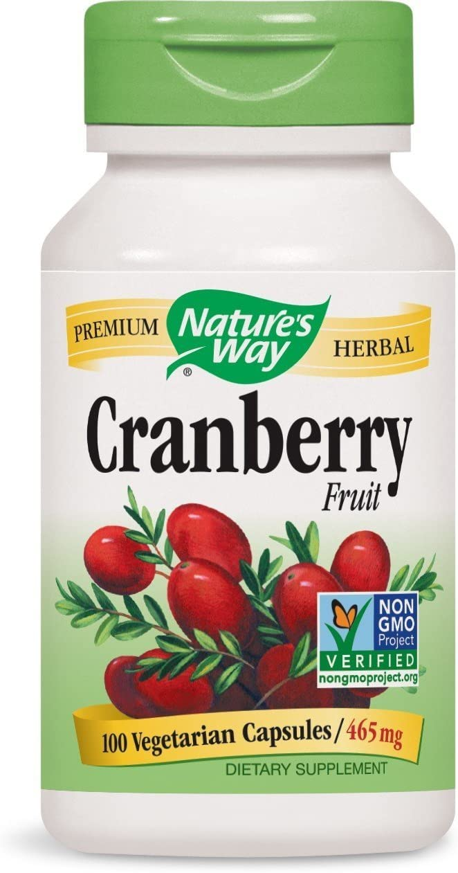 Natures Way Cranberry Fruit Capsule, 465 Mg – 100 per Pack – 3 Packs per case.