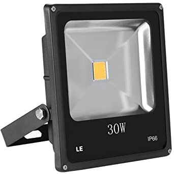 LE 30W Super Bright LED Flood Light 75W HPS Bulb Equivalent Waterproof  Security Light Outdoor Floodlight