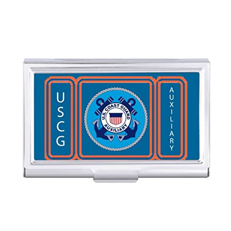 Withyouc Card Holder Coast Guard Auxiliary Business Card Holder Case