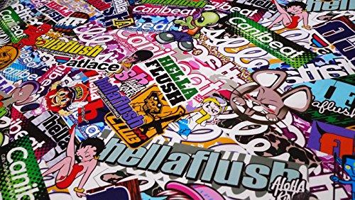 Free Tool Kit STB JDM Bomber Anime Graffiti Cartoon Car Auto Laptop Vinyl Wrap Sticker Decal Film Sheet - 60''X600'' by JDMBESTBOY (Image #7)