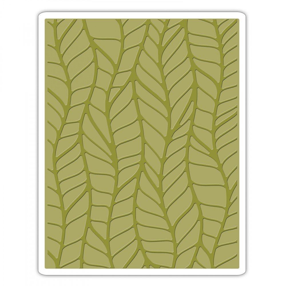 Sizzix 661826 Leafy Texture Fades Embossing Folder Ellison