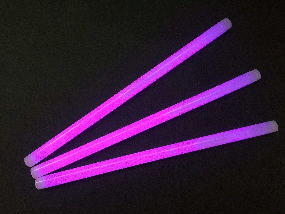 Glow Sticks Bulk Wholesale, 10 12'' 15mm Dia. Purple Industrial Grade Jumbo Light Sticks, Bright Color, Glow 14 Hrs, Safety Glow Stick 3yrs Shelf Life, Ideal for Camping & Emergency, Glow With Us Brand by Glow With Us
