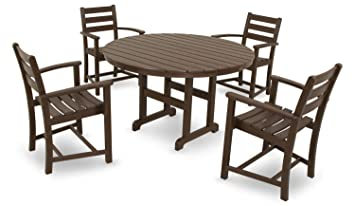 Trex Outdoor Furniture By Polywood 5 Piece Monterey Bay Dining Set, Vintage  Lantern
