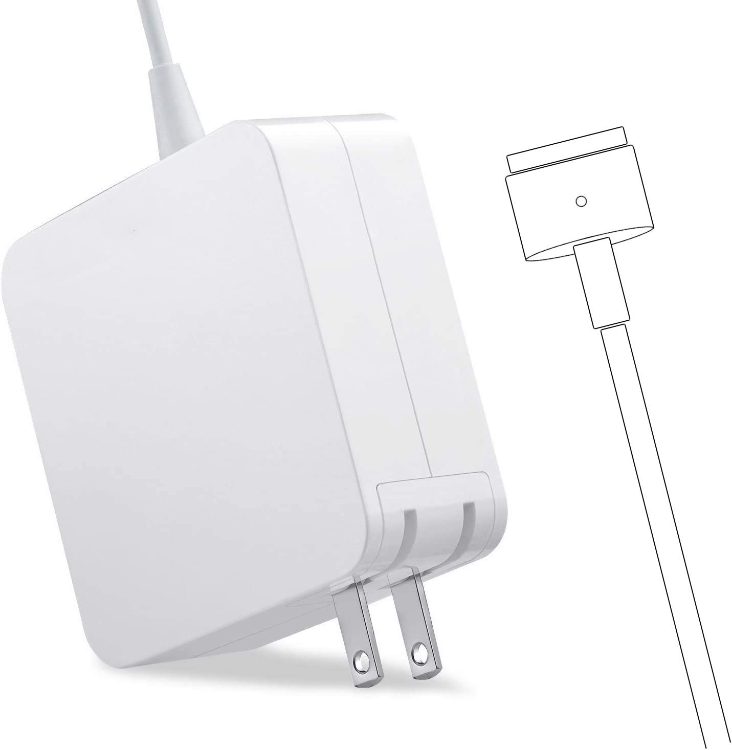 Mac Book Pro Charger, 60W T-tip Power Adapter Charger Compatible with Mac Book Charger/Mac Book Air(After Late 2012)