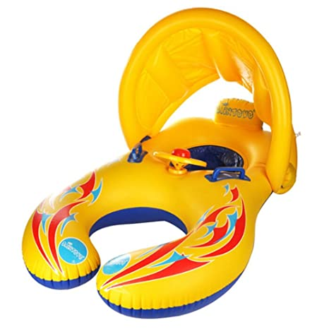 Qile Anillo con Piscina del Barco Balsa Tubo del Flotador-Sentado, Niño del Bebé