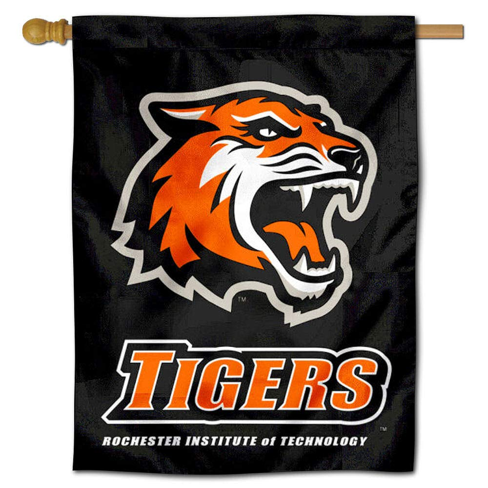 College Flags and Banners Co RIT Tigers Double Sided House Flag