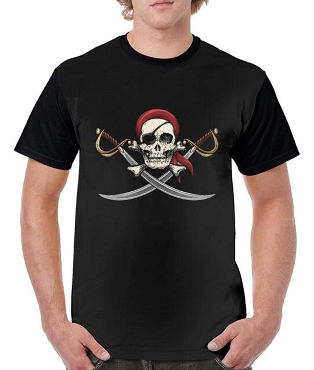 graceful shop Skull Stylish Mens Short-Sleeved T-Shirt