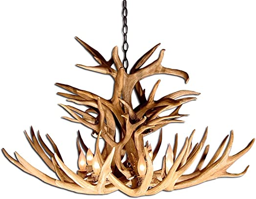 Reproduction Antler Mule Deer Royal Crown Chandelier Light XLarge