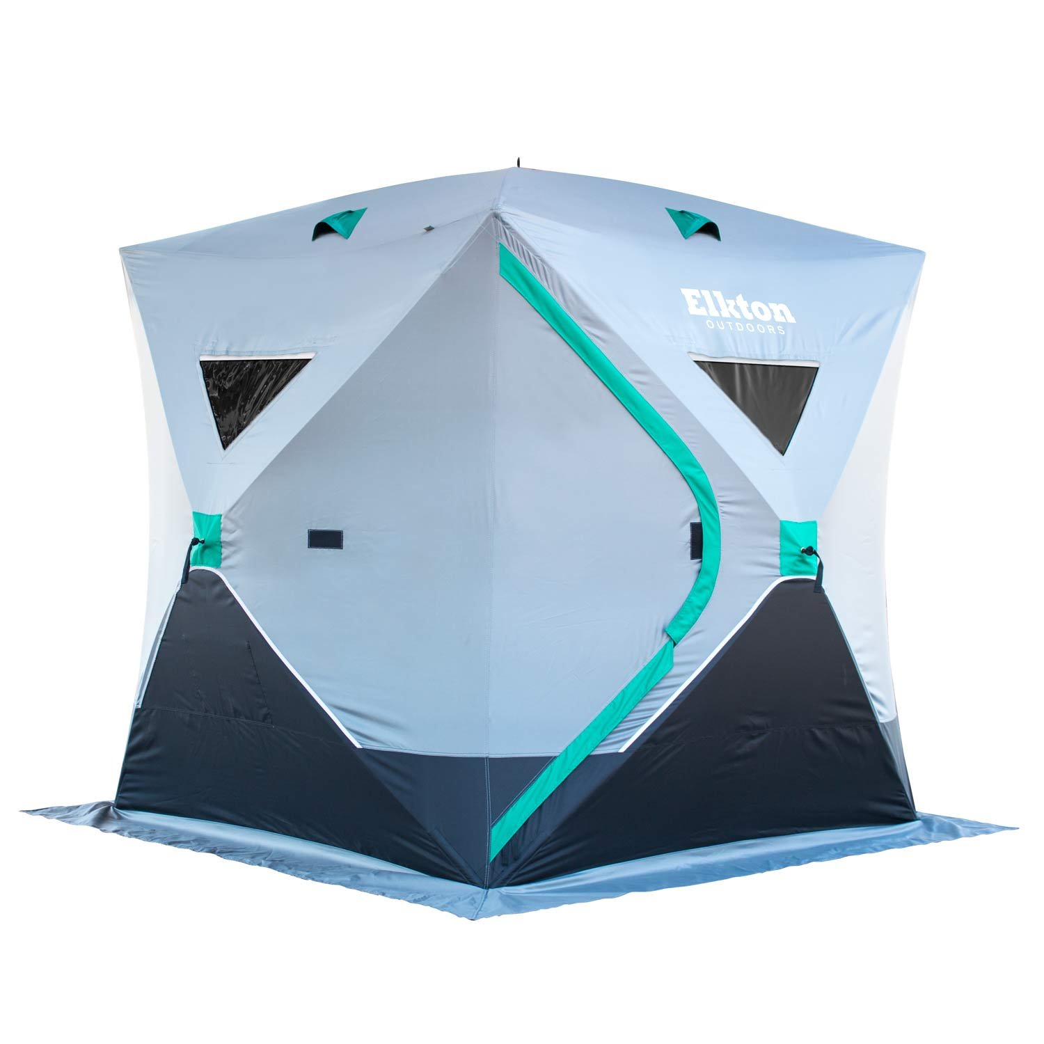 Elkton Outdoors Portable 3-Person Ice Fishing Tent With Ventilation Windows & Carry Pack: Ice Fishing Shelter Includes Tent, Carry Pack, Ice Anchors & Storage Compartments! by Elkton Outdoors
