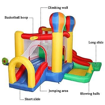JAXPETY Jump Double Slides Casa de Rebote Inflable con Pelotas de ...