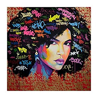 Canvas Painting Women African American Wall Art Sexy Girl Printed Painting  On Canvas Wall Art Nude