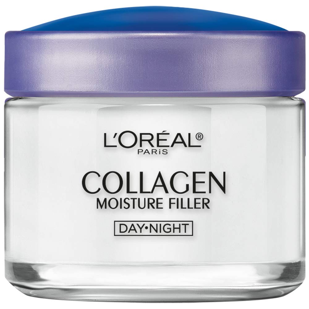 Collagen Face Moisturizer by L'Oreal Paris Skin Care I Day and Night Cream I Anti-Aging Face Cream to Smooth Wrinkles I Non-Greasy I 3.4 oz. by L'Oreal Paris