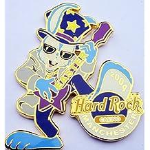 2004 Easter Pin Rockin' Bunny Playing Hard Rock Casino Manchester