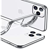 ESR Case Compatible with iPhone 11 Pro, Case Cover with 1.1 mm Thick Slim Clear Soft TPU, Crystal Clear Back Case, Flexible Silicon Cover for iPhone 11 Pro 5.8-Inch (2019), Silver Frame