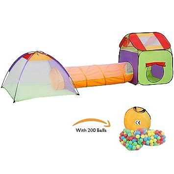 KExing Tente de Jeu pour Enfants Pop up Tunnel et Maison Portable ...